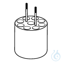 Adapter for 9 x Ø12mm dish- bottomed vessels, for FA-6x250 rotor, 2 pcs. per...