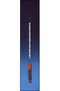 Hydrometer 1,000 - 2,000 without thermometer Hydrometer without therm., ca.300mm length in 0,01...