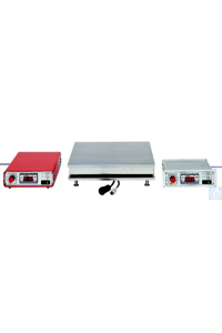 Precision, digital hotplates, 350°C, built-in unit with sep. regulatur, over-heating protection,...
