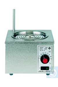 Water-bath, thermostatically controlled, stainless-steel, bath-Ø 160 mm, 100...