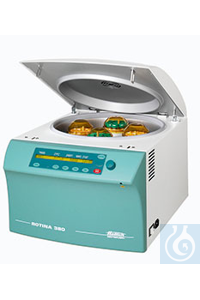 Benchtop centrifuges ROTINA 380 without rotor, (not cooled)