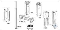 Rack of Plexiglas® for 12 cuvettes 20 mm old order number: 699/20 Rack of...