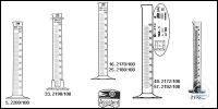 Measuring cylinders, borosilicate glass 3.3, tall form, hexagonal base, blue...