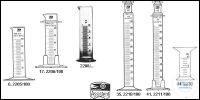 Measuring cylinders, low form, standard type circular base 5 ml old order...