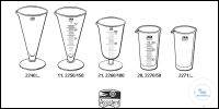 Measures, bell shape, clear glass, graduated 5 ml old order number: 2260/5...