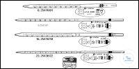 Measuring pipettes, type 3, total delivery, zero at top, DE-M, with lot...