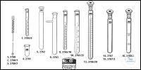 3Articles like: Test tube brushes with cotton end ca. 16-20 mm Ø old order number: 2760 Test...