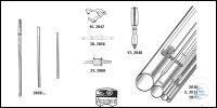Rods, AR-Glas® (soda glass), standard length 1.5 m Unter 5 kg bzw. halbierte Längen: 50 %...