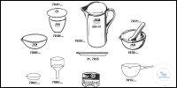 Measuring jugs, porcelain, with handle, spout and scale 100 ml old order...