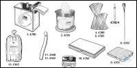 Cotton dispenser of glass with cover of stainless steel (without cotton)...