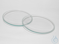 Watch glasses ground edges, in pairs ca. 9 cm old order number: 11/9