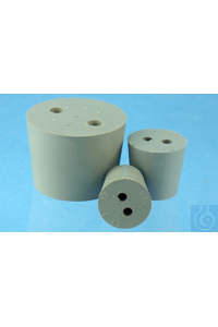Rubber stoppers without bore with bore(s) Ø mm H 16,5 x 12,5 x 20 old order...
