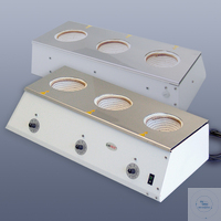 4 articles like: LabHEAT® Serial heating unit KM-R3, 3 x 100 ml 3x 100 ml, 3 x 110 W / 230 V...