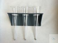 Wandhalter für Sedimentiergefässe, aus PVC platzsparende Wandhalterung für 3...