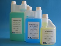 Buffer solution in handy dispensing bottle pH 10,00 (25°C) blue, 1000 ml Buffer Solution with...