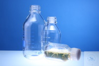 LABORFLASCHE *PROTECT SAVE* 500ML GL45 PE-KUNSTSTOFFBESCH., VACUUM-U.DRUCKFEST