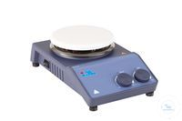 Magnetic stirrer with porcelain coated surface Classic one-channel magnetic stirrer in a modern...