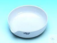 Evaporating dish porcelain, 888/00, with spout, Ø 50 mm, form A, flat bottom