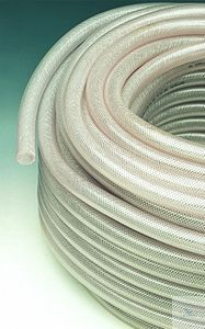 PVC-tubing with braid, reinforced, 6 x 12 mm, per meter