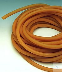 Latex tubing 5 x 9 mm, per meter
