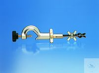 Thermometer clamp with wheel screws, length up to holder approx. 90 mm, die-cast zinc, chromed