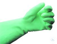 Safety gloves nitrile, size 6, green, pack of 12 pieces Protective Gloves Made of Nitrile, IDL...