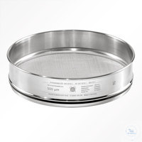 St.st. 350x60 mm / w- 0.020 mm, ISO 3310-1 HAVER TEST SIEVE WITH STAINLESS...
