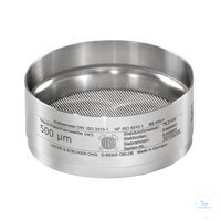 St.st. 76.2x25 mm / w- 0.020 mm, ISO 3310-1 HAVER TEST SIEVE WITH STAINLESS...