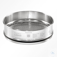 St.st. 200x50 mm / w-- 2.38x31.75 mm TOBACCO HAVER TEST SIEVE WITH STAINLESS...
