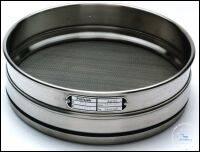 18Artikelen als: Analysensieb Edelstahl Ø 150 mm Maschenweite 20 µm Innenhöhe 50 mm mit...