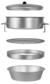 8Produkty podobne do: Rezeptursieb, 12 cm Ø bestehend aus Deckel, 2 Siebringen und Auffangschale...