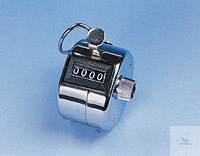 Handzähler aus Metall Typ HS6594, Silber 4-stellig mit Taster Handzähler aus...