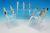 Pipettenständer, Acryl Typ HS20613C, blau für 6 Pipetten Pipettenständer,...