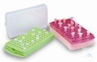 Aufbewahrungsrack mit Schnappdeckel Typ HS2345F, gelb - für 96 x 1.5/2.0, 0.5...