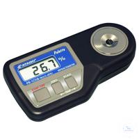 PR-101ALPHA, digital, 0.0 - 45.0% Brix, Refraktometer ''Palette'' mit ATC,...