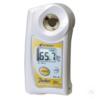Taschen-Refraktometer, digital Typ PAL-Alpha 0.0 - 85.0% Brix mit ATC,...