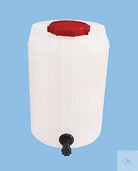 Vorratsbehälter, 60 Liter, PE, Höhe ohne Verschl. 545 mm, Behälter-Ø 450 mm,...