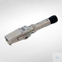 Handrefraktometer ohne Temperaturkompensation mit Bereichsschalter. Messbereich: 0-90 %Brix...