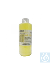 Eutech™ pH Buffers and Solutions, Color-Coded pH 7.00 Buffer Solution, Yellow 60mL Each...