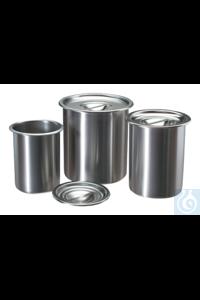 Shandon™ Edelstahlbehälter mit Deckel - 3.2 qt.