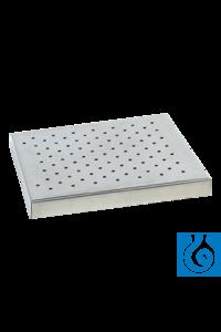 Tablar 100 mit Universallochung Zubehör Vibramax 100, Rotamax 120 Zur Verwendung mit Halterungen...