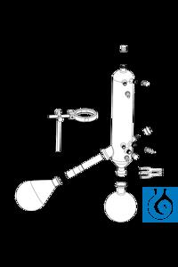 Glassware set G3 XL Vertical condenser for all standard distillations; for...