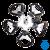 StarFish Universal 5-weg klem - klittenband StarFish Universal 5-voudige klem...