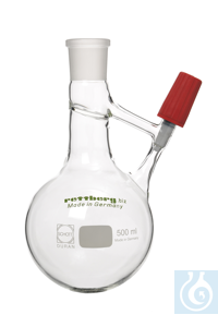 Schlenk flask acc. to Strauss, 500 ml, Produran ® valve 0 - 4 mm Schlenk flask acc. to Strauss,...