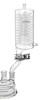 Rückflusskühler, Höhe 320 mm, GL 18, Kühlfläche 2000 cm², kurze Bauform Rückflusskühler,...