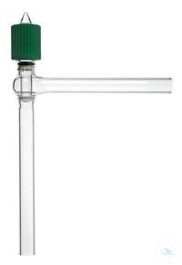 Hochvakuum-Eckventil, 0-6 mm, mit Glas-Spindel Hochvakuum-Eckventil, mit Feingewinde,...