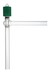 Hochvakuum-Eckventil, 0-8 mm, mit Glas-Spindel Hochvakuum-Eckventil, mit Feingewinde,...
