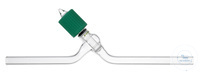 Hochvakuum-Durchgangsventil, 0-6 mm, mit Glas-Spindel Hochvakuum-Durchgangsventil, mit...