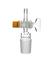 Kern NS 14,5/23, mit geradem Rohr, PTFE-Hahn NS 14,5/2,5 mm Kern, NS 14,5/23, mit geradem Rohr,...