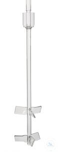 KPG-Rührwelle, WG 16, 510 mm lang, für Reaktionsgefäße 6000 ml, 2-fach Propeller-Rührblatt...